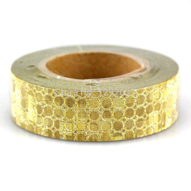 Golden gillter paper adhesive tape /washi tape Featured Image