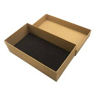 Durable kraft paper packing box with protective sponge