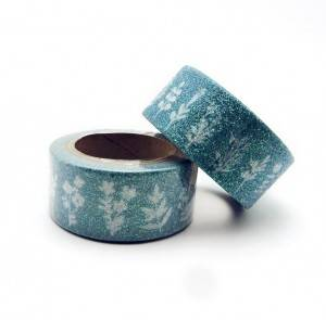 Christmas gillter paper adhesive tape