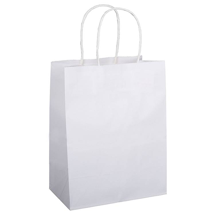 White Kraft DIY Pattern Shopping Bag with Handle Featured Image
