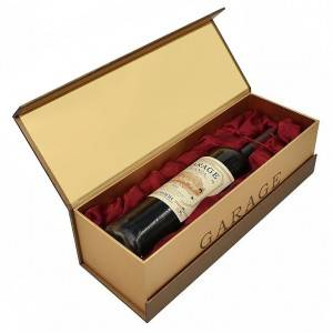 Paper wine box for single bottle