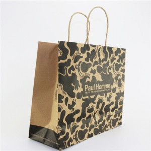 high quality factory price wholesale printed brown kraft paper bag