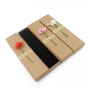 Custom logo kraft paper shipping packing box with lid