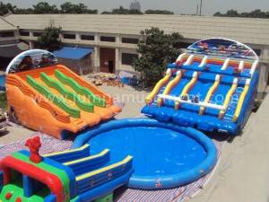 inflatable sea park inflatable water slide pools for water park  JP-WS01