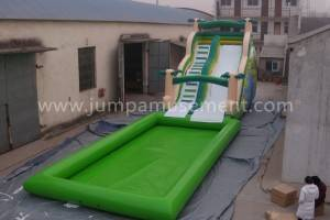 Multifunctional 0.55mm PVC tarpaulin inflatable water slides with climbing wall JP-WS03