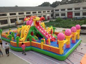 Inflatable dragon play park for kids JP-F06