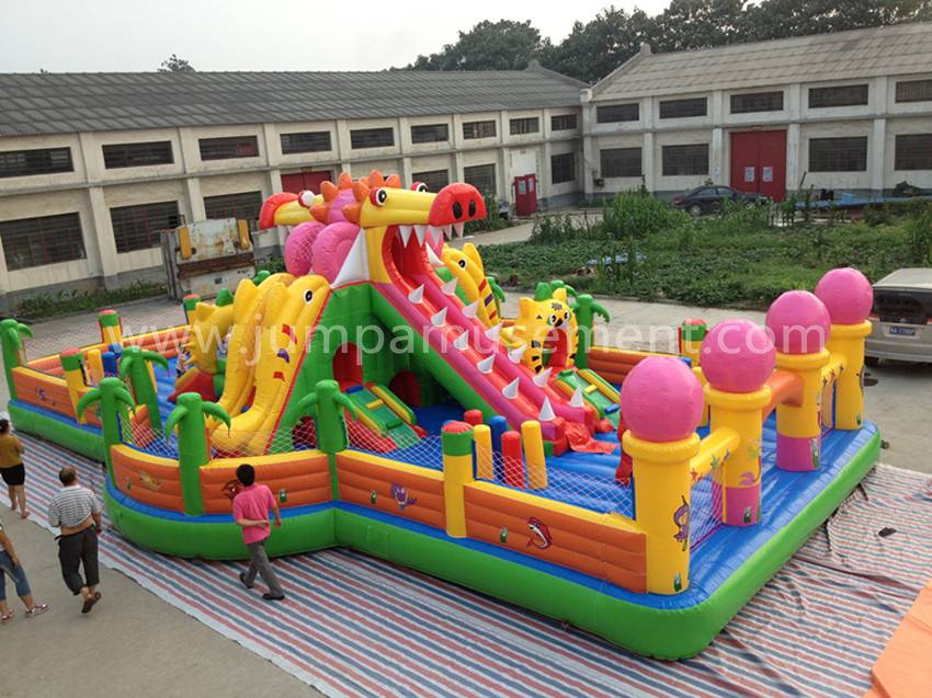 Inflatable dragon play park for kids JP-F06 Featured Image