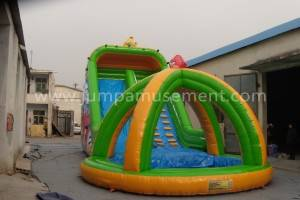 hurricane inflatable water slide, outdoor equipment inflatable for water park lJP-WS06