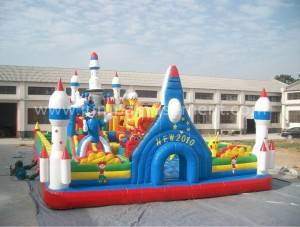 Inflatable rocket bounce park JP-F07
