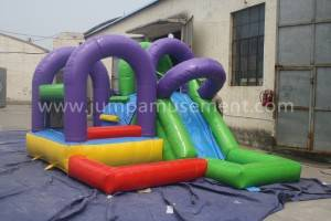 PVC Material and custom Size inflatable dinosaur slide for outdoor sea park JP-WS07