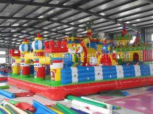 Inflatable jungle theme playground JP-F09