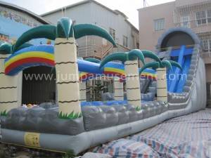 Commercial water slide palm tree cheap water slide inflatable for sale JP-WS09