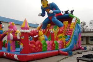 Inflatable superman fun park JP-F10