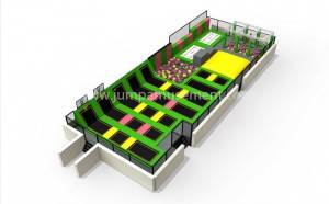 China Manufacturer Commercial Retangular Professional Indoor Trampoline Park Equipment District  JP-TP39
