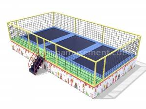 Factory wholesale Trampoline Rectangular - 3 in 1 children jumping bed for outdoor park JP-BJ14 – Jump Amusment