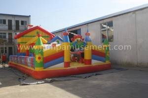 Inflatable theme park palyground funcity for kids JP-F15