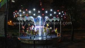 Amusement Electric Carousel with Lights JP-CR02