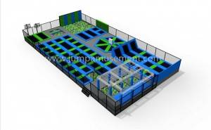 popular trampoline park with wipeout on sale JP-TP27