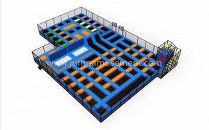 rock climbing trampoline park for entertainment park JP-TP20
