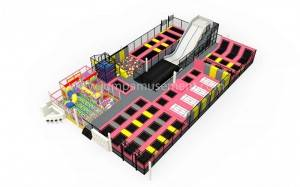 popular sports indoor trampoline park garden tr...