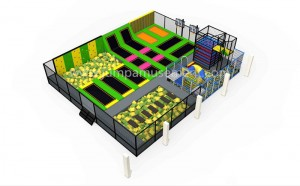 Kids Play Play Muti-Function Kids Large Indoor Jumping Bungee Trampoline Park  For Children JP-TP44