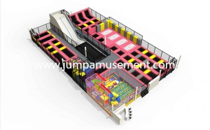Practical Fashion OutdoorTrampoline For Entertainment Center Outdoor Trampoline Park  JP-TP53