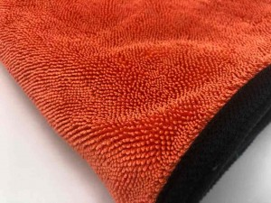 China Wholesale Absorbent Lint Free Gray 600gsm 70x90cm Large Auto Detailing Car Wash Twisted Microfiber Twist Loop Drying Towel
