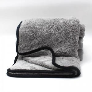Dual layer microfiber coral fleece drying towel