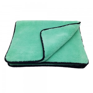 Green Plush Microfiber Towels Car Buffing Detailing Wash Towels