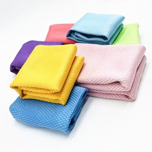 270GSM High Quality Microfiber Glass Cloth for glass care