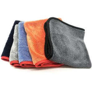 Multi Colors 610GSM microfiber drying towel with high absorption custom size twist drying towel