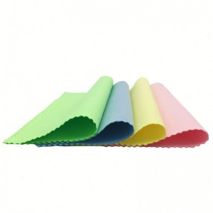 15*15cm Microfiber suede cloth for auto polish