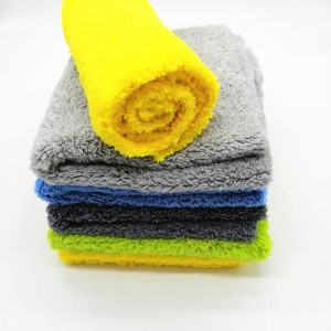 Microfiber plush car wash towel
