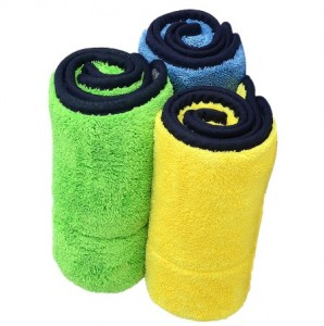 Microfiber coral fleece car drying towel