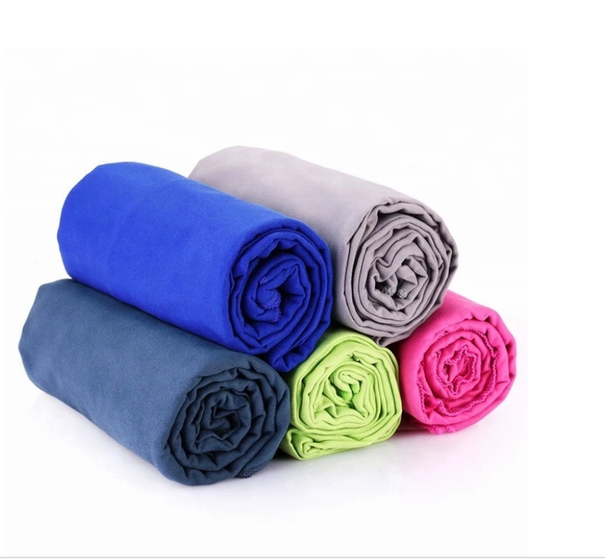 Microfiber Fast Drying Super Absorbent Sport Towel With Mesh Bag for Camping Featured Image