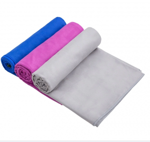 Microfiber Fast Drying Super Absorbent Sport Towel With Mesh Bag for Camping