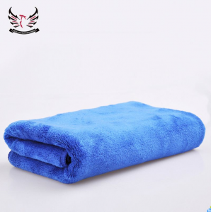 quick dry light weight blue microfiber towel for bath microfiber brushed towels