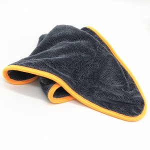 Microfiber twisted drying towel