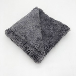 Blue Yellow Gray Plush Towel Microfiber Coral Fleece Towel for Car Detailing