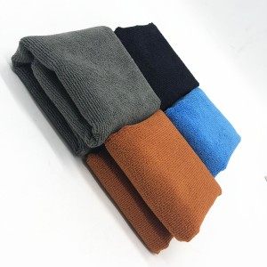 Car Washing and Drying Towel Microfiber Polyester Warp Knitting Cloth Stitching Edge