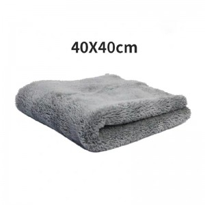 Microfiber drying towel 500GSM long pile coral fleece towel