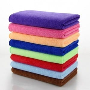 Microfiber weft brushed kitambaa knitted