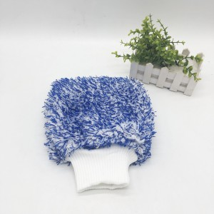 Microfiber High Pile Wash Mitt With Mixed Color Wash Mitt for Car Detailing