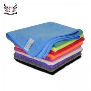 Knitted microfiber towels