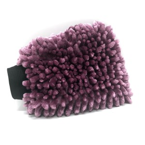 New Color Purple Chenille Wash Mitt Car Washing Microfiber Gloves Car Care Kit