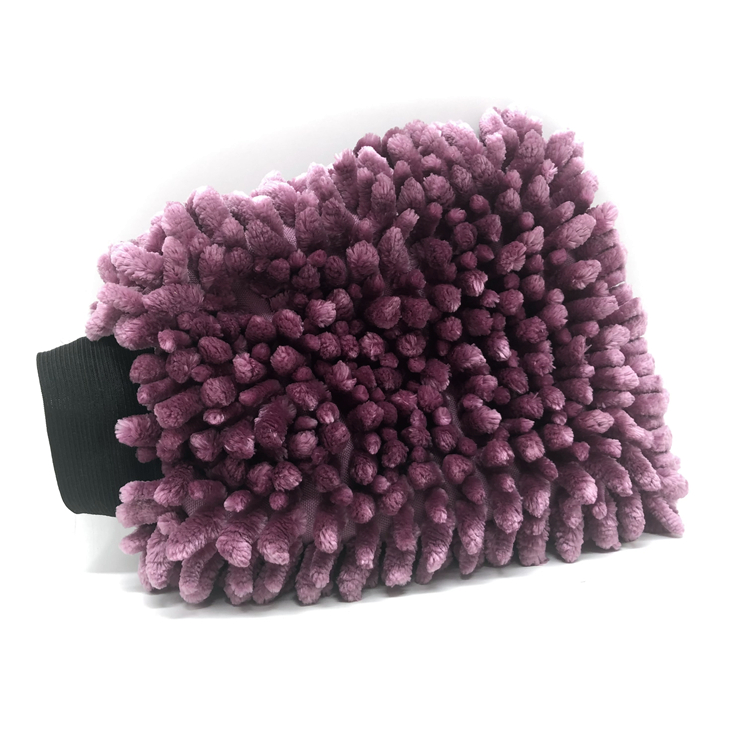 New Color Purple Chenille Wash Mitt Car Washing Microfiber Gloves Car Care Kit Featured Image