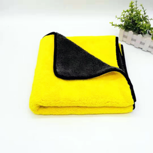 600gsm 40*40cm Coral Fleece Towel Double Colors Microfiber Towel