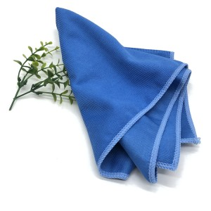 16*16 300gsm Microfiber Glass Cloths Car Window Cleaning Towel