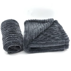 New Designing Hybrid Drying Towel Microfiber Twisted and Plush Piles Car Washing Cloth