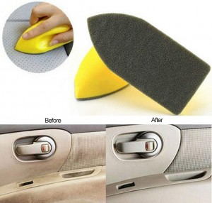 Car Seat Keeper Pad Yellow Color Car Interior Nano Cleaning Brush